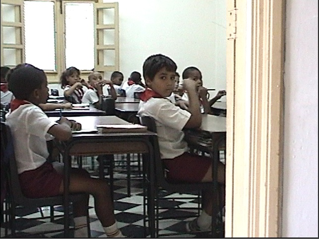 Classroom at Moncada Baracks, site of the first action of the Cuban revolution, now a museum and public school