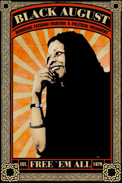 Former Black Panther Party member Assata Shakur. The first woman on the FBI's Most Wanted List. Image Courtesy of breakthechains.info.