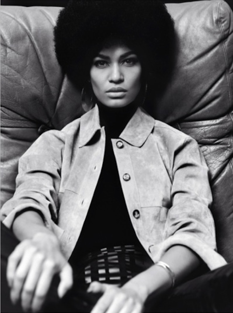 Model Joan Smalls Rodriguez in Black Power for V Magazine. Image Courtesy of