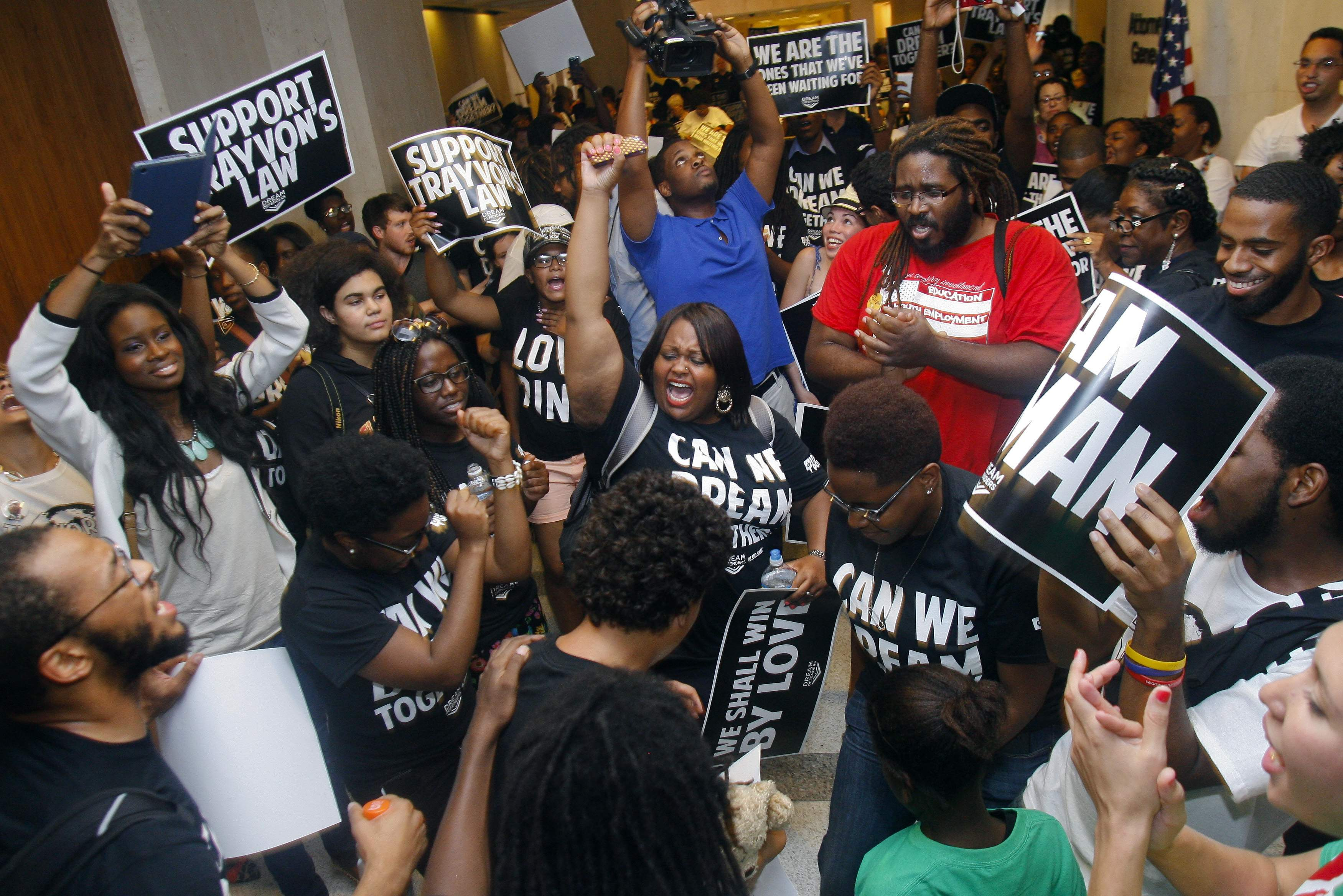 Dream Defenders occupy Florida state capitol. Courtesy Pensacola News Journal.