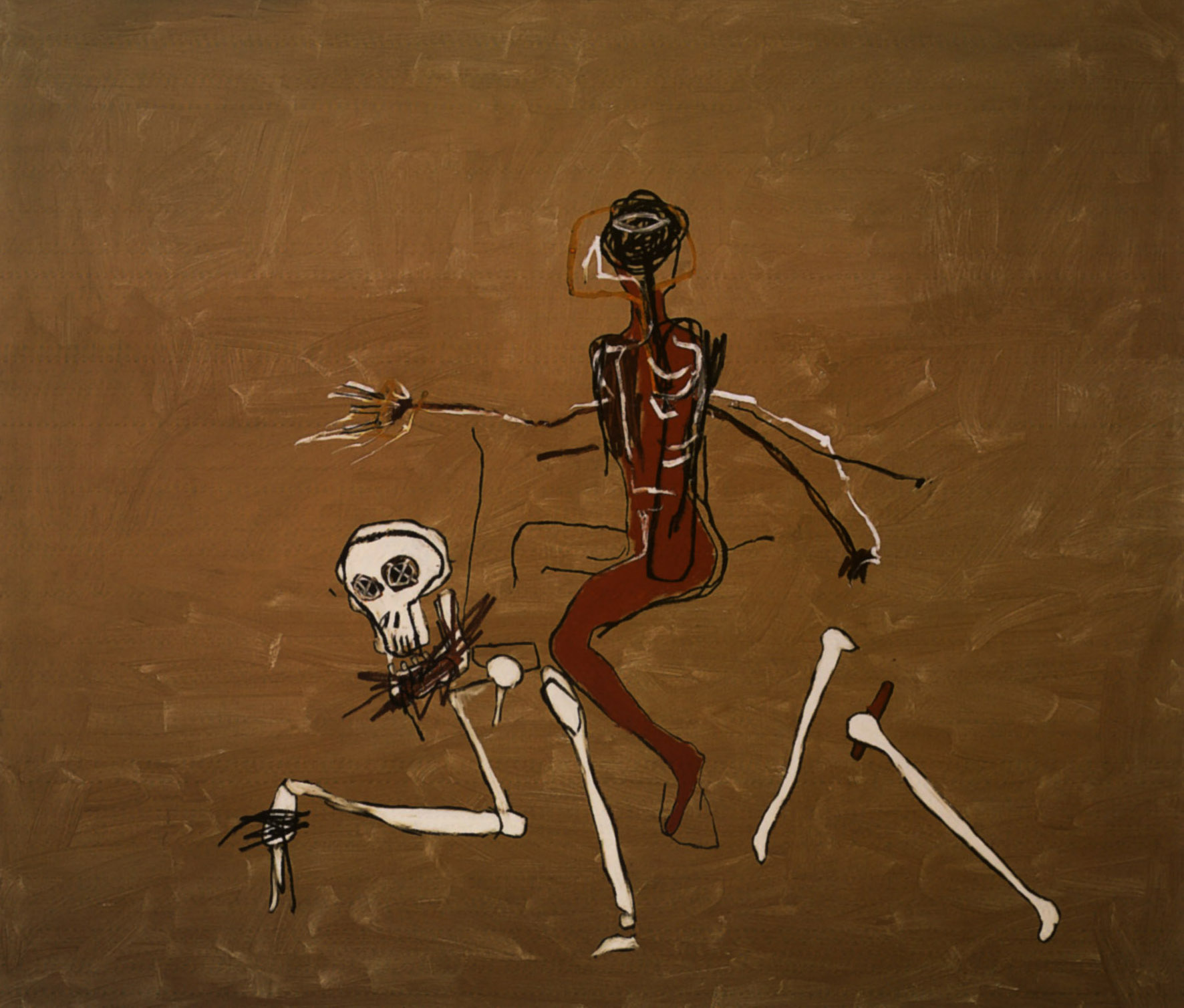 Riding with Death by Jean Michel Basquiat.